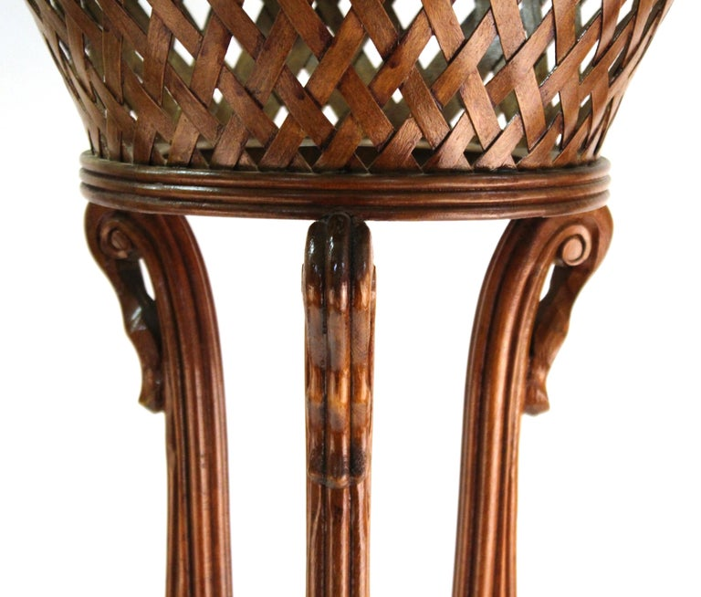 Late 20th Century Victorian Revival Style Plant Stands in Wood For Sale
