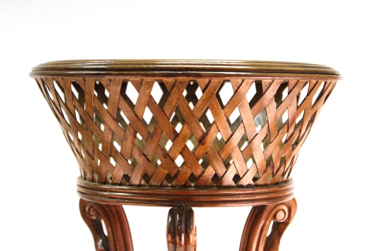 Victorian Revival Style Plant Stands in Wood For Sale 1