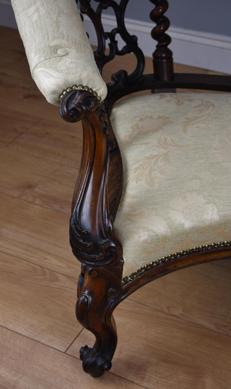 Victorian Rosewood Chaise Lounge Or Sofa For Sale At 1stdibs