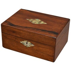 Victorian Rosewood Jewellery Box