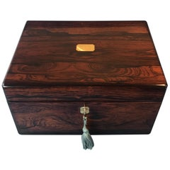 Victorian Rosewood Jewelry Box