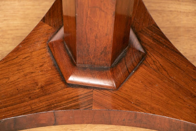 European Victorian Rosewood Side Table or Lamp Table, circa 1860 For Sale