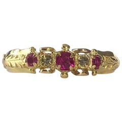 Victorian Ruby and Diamond 18 Carat Gold Ring