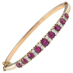Victorian Ruby and Diamond Bangle