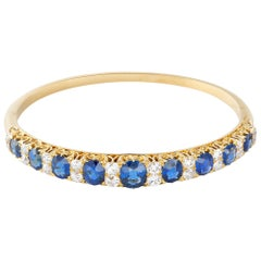 Victorian Sapphire and Diamond Bangle