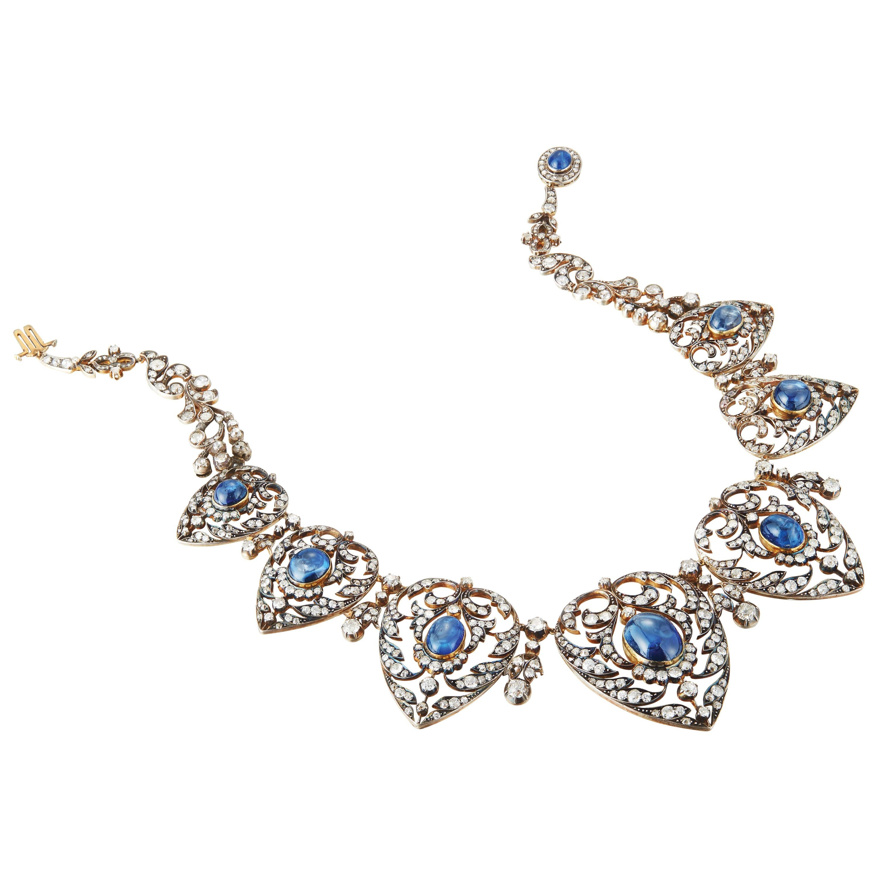 Victorian Sapphire and Diamond Necklace
