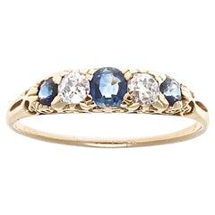Victorian Sapphire Diamond Gold Band
