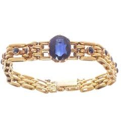Victorian Sapphire Gold Bracelet