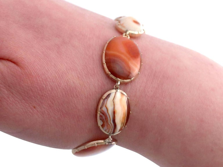 Victorian Sardonyx Yellow Gold Bracelet For Sale 7