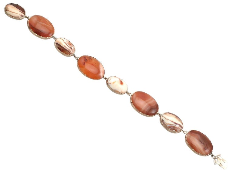 Women's Victorian Sardonyx Yellow Gold Bracelet For Sale