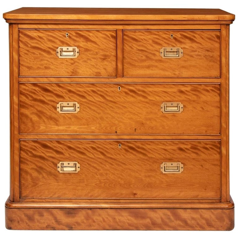 Antique And Vintage Secretaires 1495 For Sale At 1stdibs >> Victorian Satin Birch Military Chest