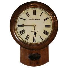 Victorian Scottish Station Wall Clock