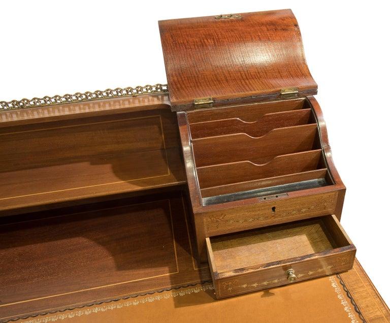 19th Century Victorian Sheraton Revival Mahogany Bonheur Du Jour For Sale