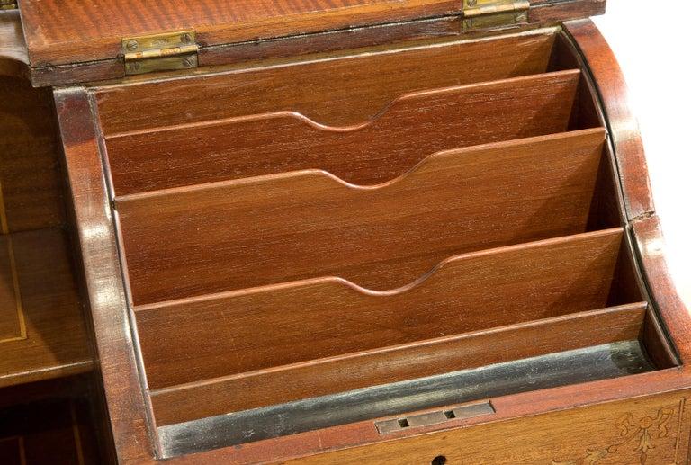 Victorian Sheraton Revival Mahogany Bonheur Du Jour For Sale 1
