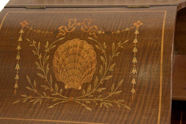 Victorian Sheraton Revival Mahogany Bonheur Du Jour For Sale 2