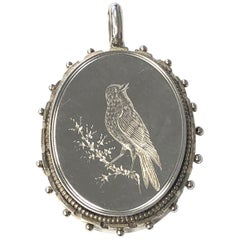 Victorian Silver Aesthetic Movement Locket