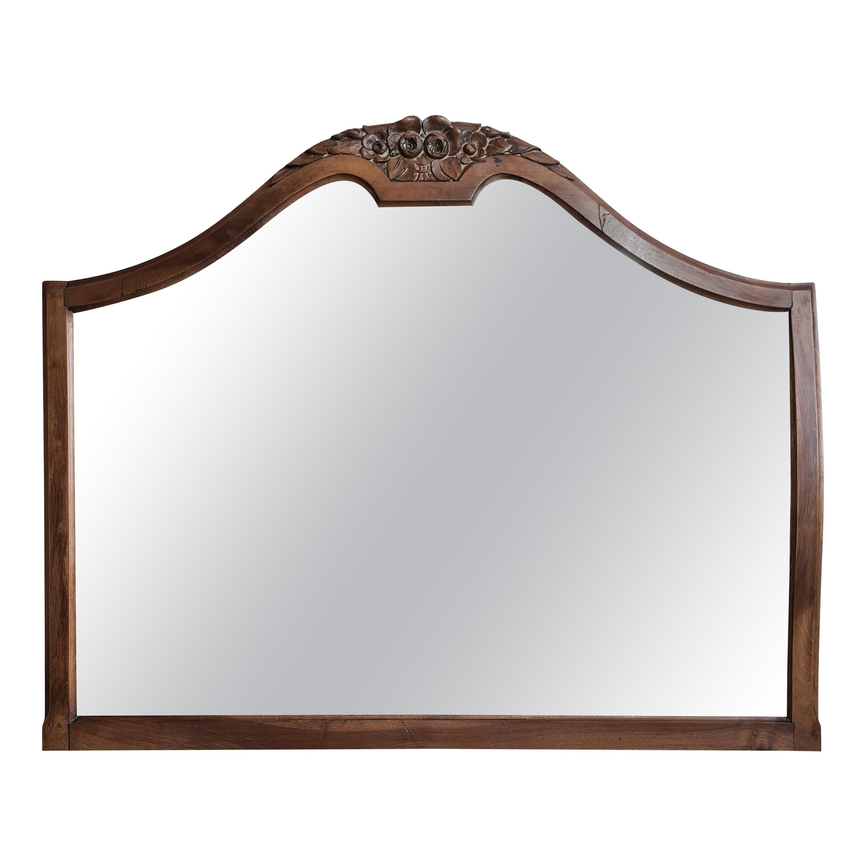 Victorian Silver Backed, Foxed Overmantle Mirror