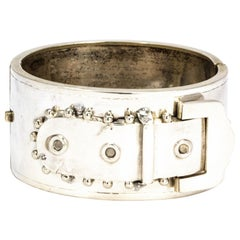 Victorian Silver Bangle with Buckle Detail