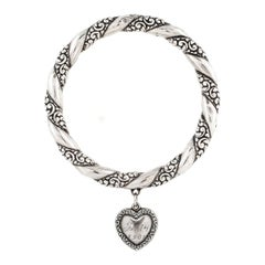 Victorian Silver Bracelet with Heart