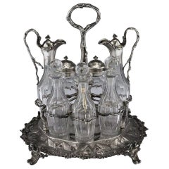 Victorian Silver Condiment Set, Hunt & Roskell, circa 1870
