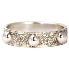 Victorian Silver Decorative Bangle