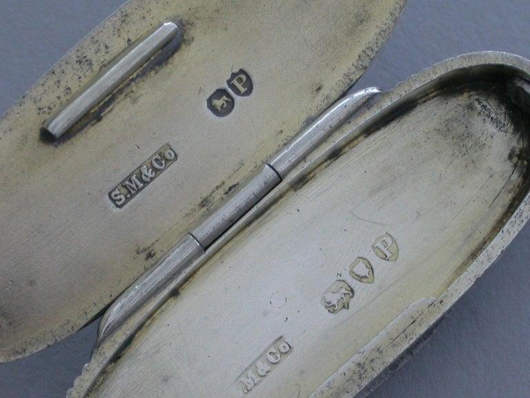 Victorian Silver & Enamel Combination Vesta Case/Pencil/Pen Knife Coaching Scene 5
