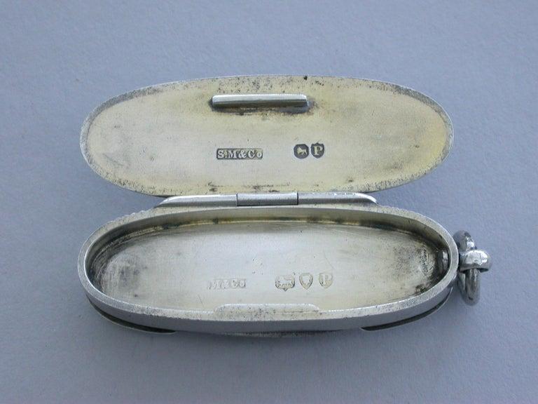 Victorian Silver & Enamel Combination Vesta Case/Pencil/Pen Knife Coaching Scene 3