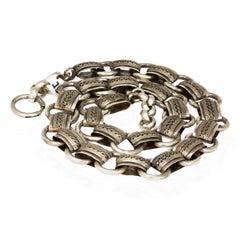Victorian Silver Fancy Collar Necklace