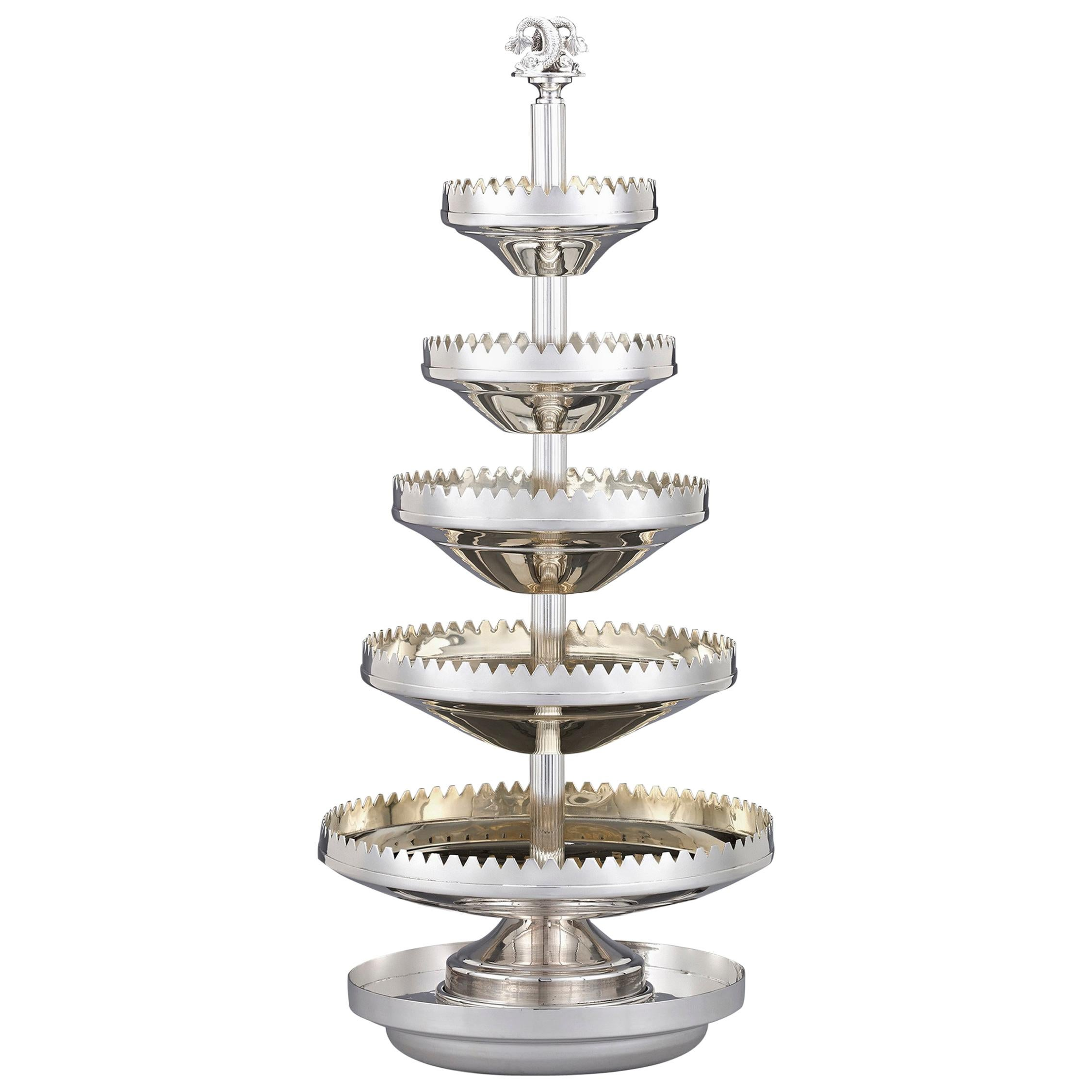 Victorian Silver Oyster Server by Mappin & Webb
