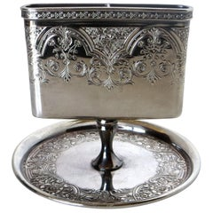 Victorian Silver Plate Match Holder, American, circa 1898