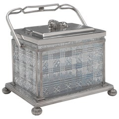 Victorian Silver Plated Biscuit Box by Cooper Brothers & Sons, circa 1880