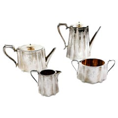 Victorian Silver Plated Tea and Coffee Service Set