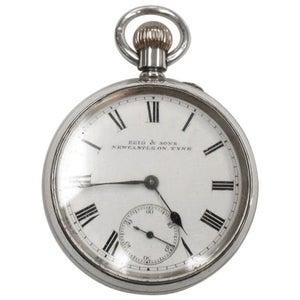 Victorian Silver Pocket Watch in Original Fitted Box, Chester Hallmark, 1895