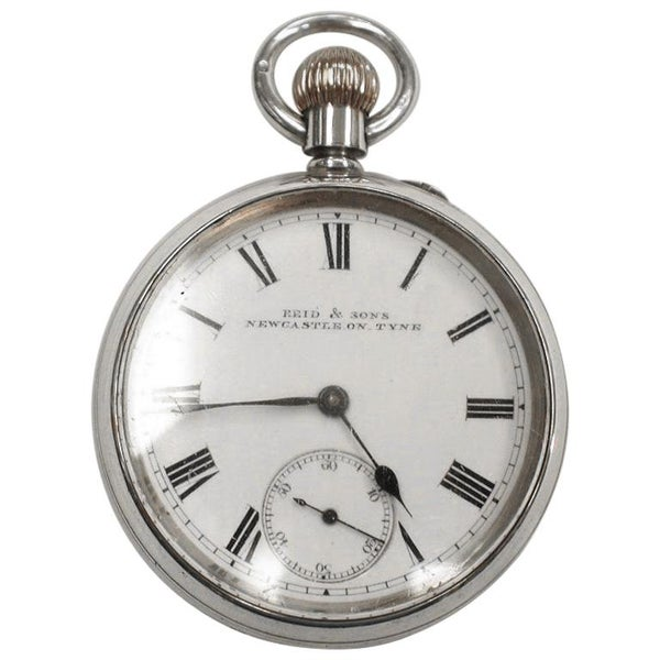 Victorian Silver Pocket Watch in Original Fitted Box, Chester Hallmark, 1895