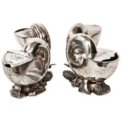 Victorian Silver Shell Spoon Warmers