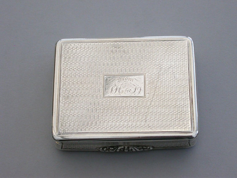 Victorian Silver Snuff Box 'Royal Old Wells Cheltenham' By Nathaniel Mills 1838 For Sale 9