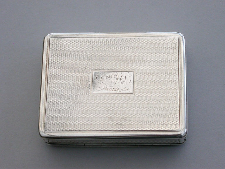 Victorian Silver Snuff Box 'Royal Old Wells Cheltenham' By Nathaniel Mills 1838 For Sale 10
