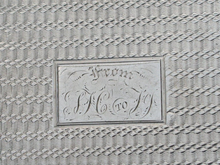 Victorian Silver Snuff Box 'Royal Old Wells Cheltenham' By Nathaniel Mills 1838 For Sale 11