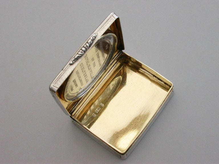 Victorian Silver Snuff Box 'Royal Old Wells Cheltenham' By Nathaniel Mills 1838 For Sale 3