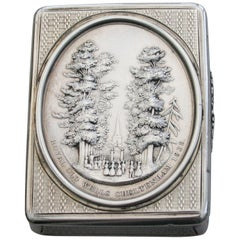 Victorian Silver Snuff Box 'Royal Old Wells Cheltenham' By Nathaniel Mills 1838