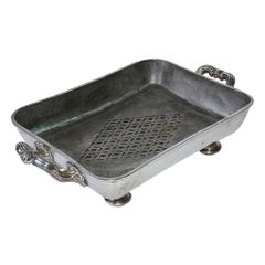 Victorian Silver Plated Serving Dish with Hot Water Space