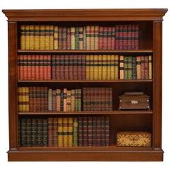 Victorian Solid Mahogany Open Bookcase