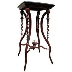 Victorian Spiral-Carved Walnut Pedestal Table