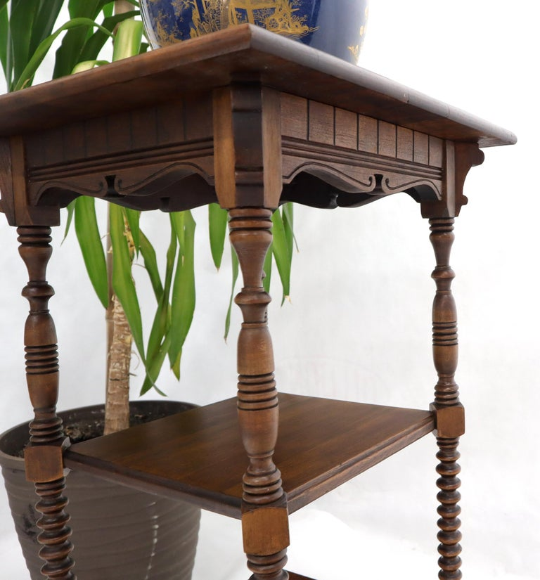 Victorian Square Three-Tier Stand Corner Lamp Occasional Table Stand For Sale 3