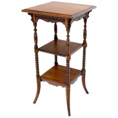 Victorian Square Three-Tier Stand Corner Lamp Occasional Table Stand