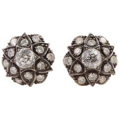 Victorian Star Old Cut Diamond Earring