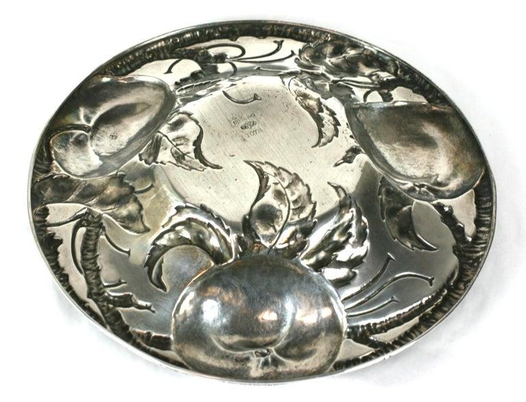 Victorian Sterling Apple Motif Dish, Alvin For Sale 2
