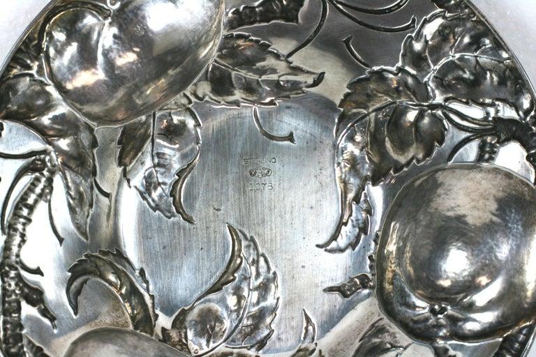 Victorian Sterling Apple Motif Dish, Alvin For Sale 3