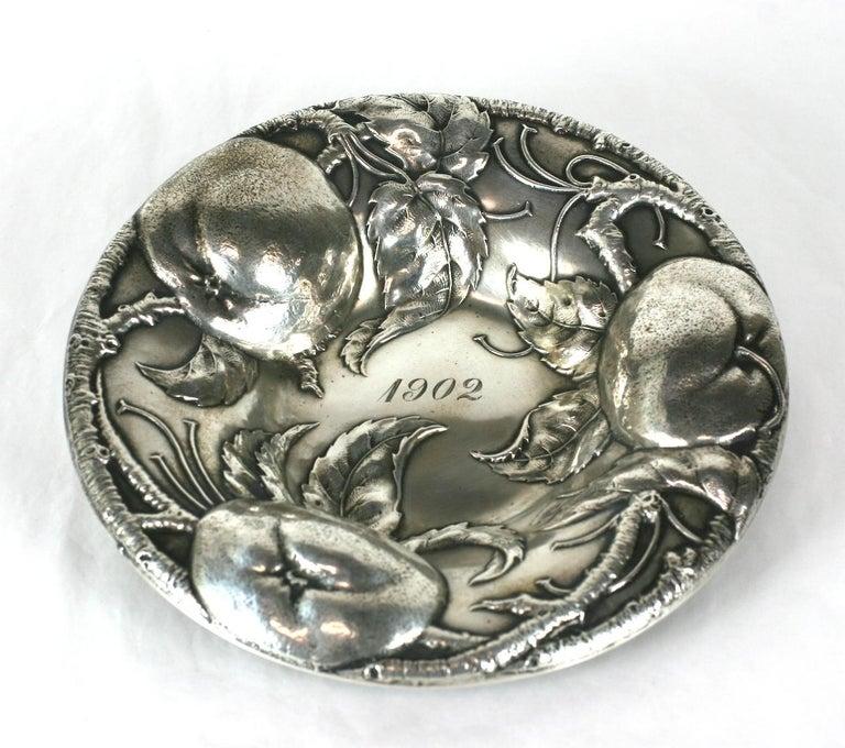 Victorian Sterling Apple Motif Dish, Alvin For Sale 4