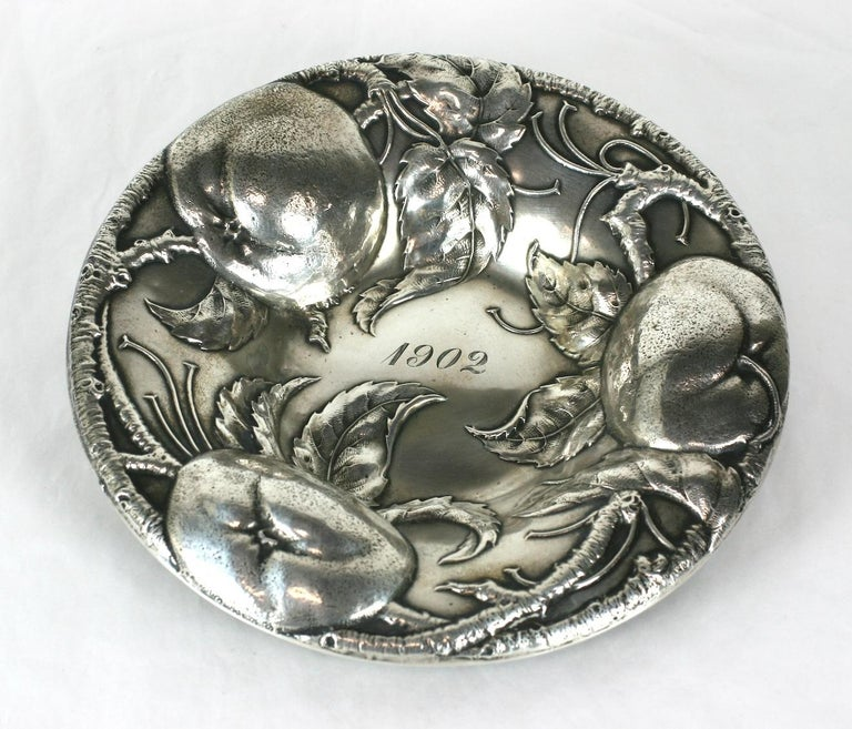 Victorian Sterling Apple Motif Dish, Alvin For Sale 5